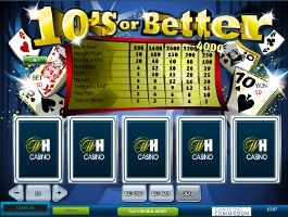 video poker 10s or better