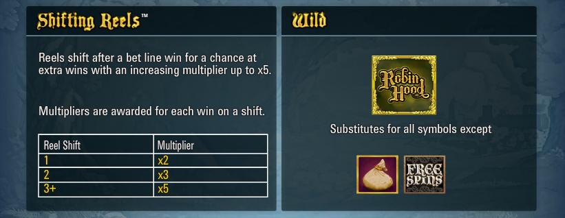 bonus shifting reels