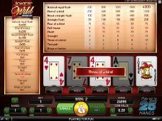 jeu de casino Joker Wild en ligne