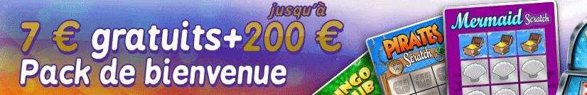 le bonus de bienvenue gratuit de Gratorama : 7 euros gratuit pour jouer