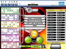 jeu de bingo à 6 cartes