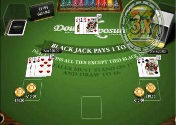 jouer au Blackjack Double Exposure sans téléchargement