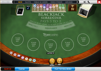 jeu de Blackjack Surrender gratuit