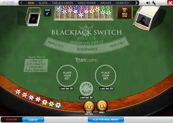 jouer au Blackjack Switch