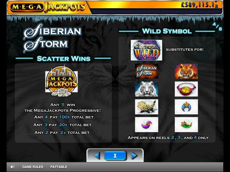bonus du jeu de casino en ligne siberian storm