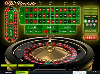 jeu de roulette en 3 dimensions