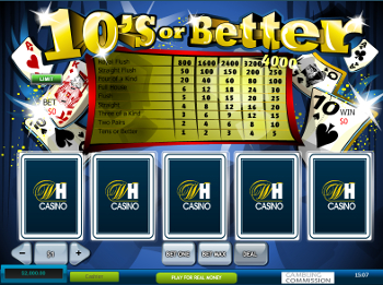 jeu de video poker 10's or Better