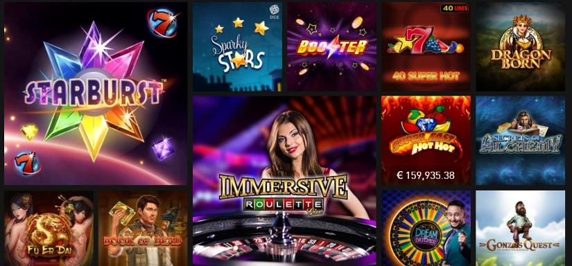 jeux de casino et machines à sous sur casino777