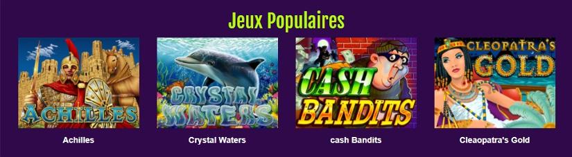 les jeux de casino du site majestic slots