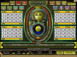 jeu pharaoh bingo