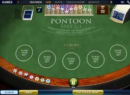 jeu pontoon blackjack