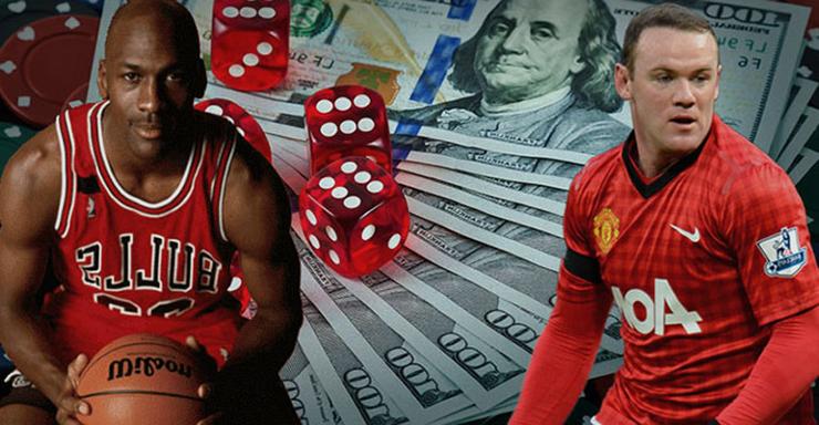 sportifs célèbres et jeux d'argent