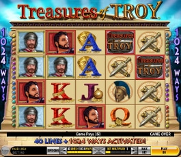 machine à sous treasures of troy